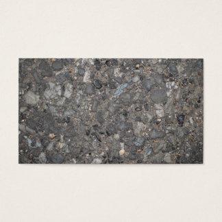 石が付いている地面のイメージ 名刺
