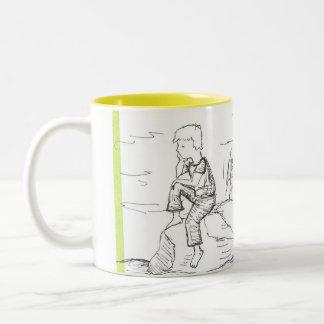 石で沈痛なコーヒー ツートーンマグカップ