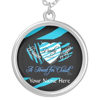 石による名前入りな純度のネックレスあなたの信頼 シルバープレートネックレス