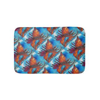 石のかたつむりの貝パターン バスマット