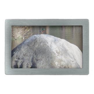 石のアヒル 長方形ベルトバックル