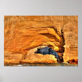 石のアーチ、Lakeshore描かれた石の国民、MI ポスター