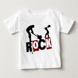 石のオン子供の衣服の石のTシャツ ベビーTシャツ