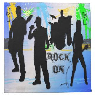 石のオン石のnロールバンドアメリカ人のMoJoのカクテル ナプキンクロス