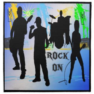 石のオン石のnロールバンドアメリカ人のMoJoのナプキン ナプキンクロス