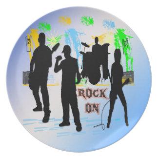 石のオン石のnロールバンドプレート プレート