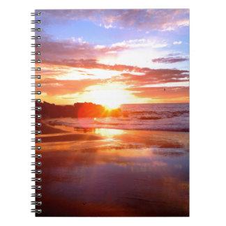石のカリフォルニア日没 ノートブック