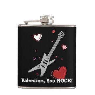 石のギターのバレンタインの黒 フラスク