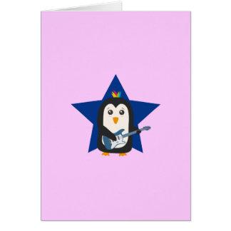 石のギターのペンギン カード