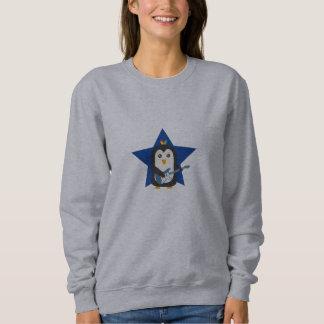 石のギターのペンギン スウェットシャツ