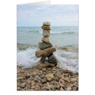 石のケルン- Mackinacの島記念碑 カード