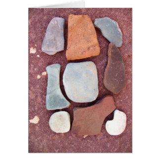石のジグソーパズル カード