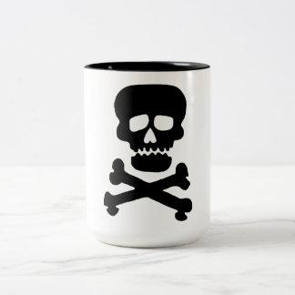石のスカル ツートーンマグカップ