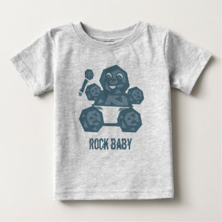 石のベビーのTシャツ ベビーTシャツ