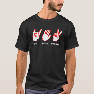 石のペーパーはさみ音楽 Tシャツ