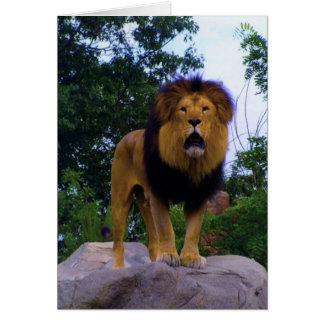 石のライオン カード