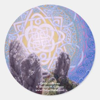 石の円、石Darlene P.の円… ラウンドシール
