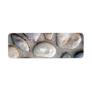 石の壁 ラベル