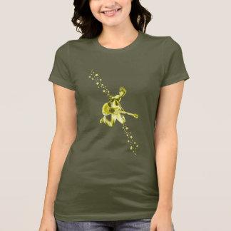 石の女の子および星 Tシャツ