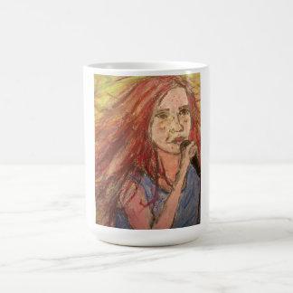 石の女の子 コーヒーマグカップ