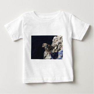 石の小さいすずめのクローズアップ ベビーTシャツ