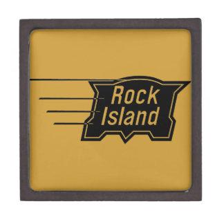 石の島の鉄道速度のロゴ ギフトボックス