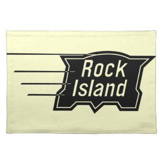 石の島の鉄道速度のロゴ ランチョンマット