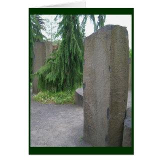 石の彫刻 カード