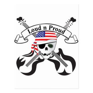 石の海賊米国のスタイル ポストカード