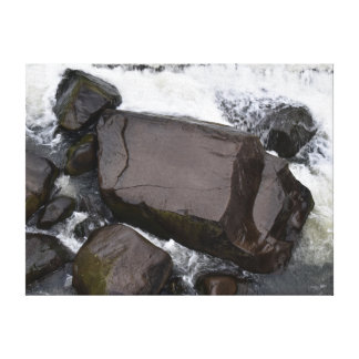 石の激流の峡谷LAUNCESTONタスマニア キャンバスプリント