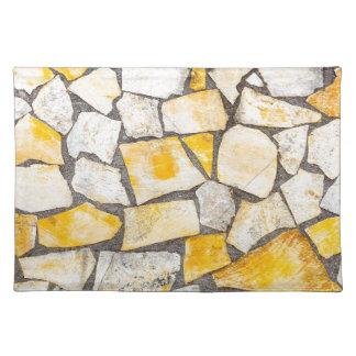 石の煉瓦積みまたは石工の変化 ランチョンマット
