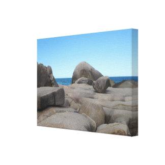 石の石および海の優れたキャンバスプリントの光沢 キャンバスプリント