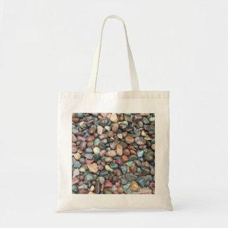 石の自然の小石 トートバッグ