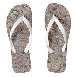 石の質の地質学の写真 ビーチサンダル