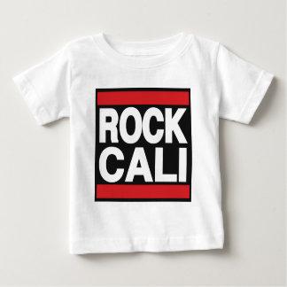石のCaliの赤 ベビーTシャツ