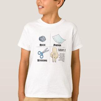 石のPapperのはさみ Tシャツ
