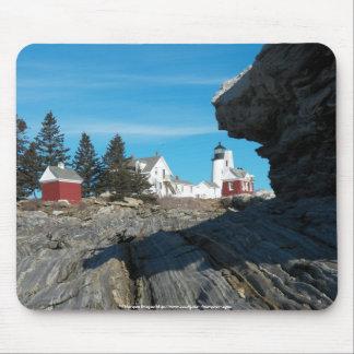 石のPemaquidの灯台 マウスパッド