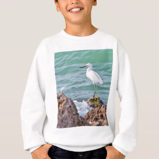 石のSnowy白鷺 スウェットシャツ
