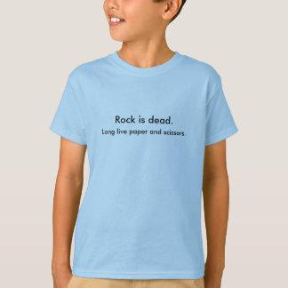 石は死んでいます。 長く紙およびはさみは住んでいます Tシャツ
