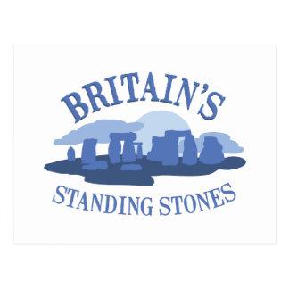 石を立てるイギリス ポストカード
