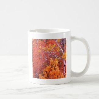 石アイダホの秋の《植物》アスペンの木都市 コーヒーマグカップ