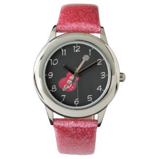 """""""石ギター""""のデザインの腕時計 腕時計"""