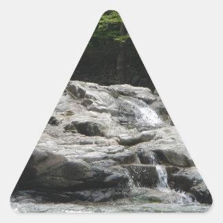 石タワー 三角形シール
