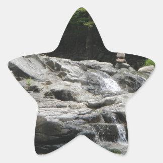 石タワー 星シール