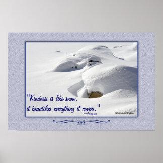 石上の雪の漂流 ポスター