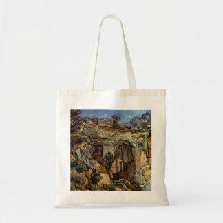 石切り場へのゴッホの入口、ヴィンテージのファインアート トートバッグ