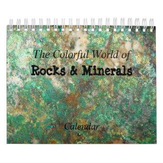 石及び鉱物の写真 カレンダー