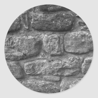 石塀のステッカー ラウンドシール