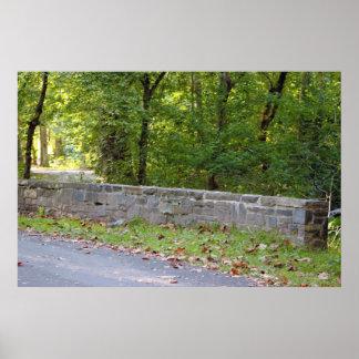 石塀の写真 ポスター