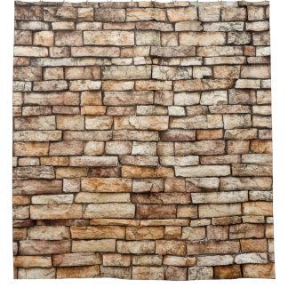 石塀の質 シャワーカーテン